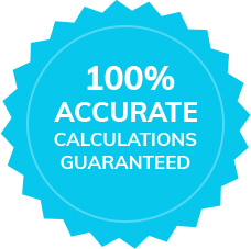 100% Accurate Calculations Guaranteed icon